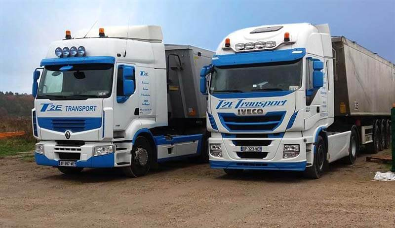 camions de transport routier